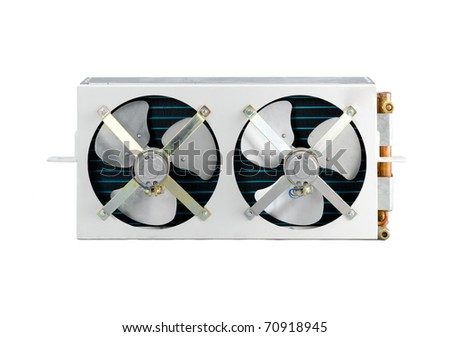 The condenser unit for air conditioner - stock photo