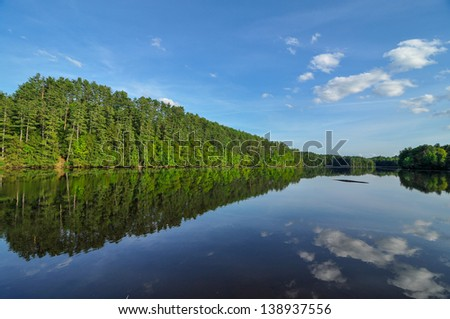 The Connecticut River on a Beautiful Summer Day - stock photo