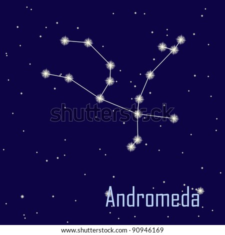 "The constellation "" Andromeda"" star in the night sky. Raster version - stock photo"