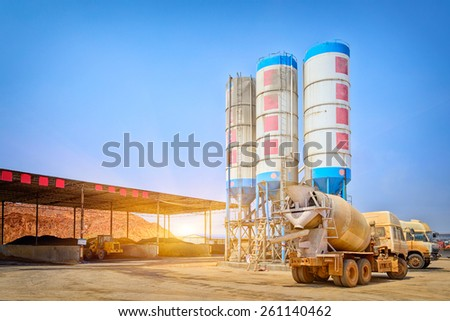 The construction site - stock photo