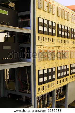The control cabinet of  the power supply - stock photo