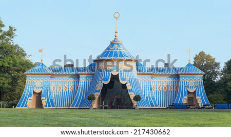 The Copper tents in Haga built 1787-90 Gustav III the king of Sweden, panorama - stock photo