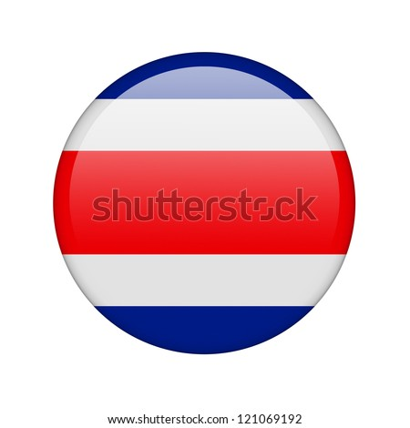 The Costa Rica flag in the form of a glossy icon.