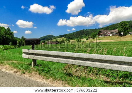 The countryside in Germany. - stock photo