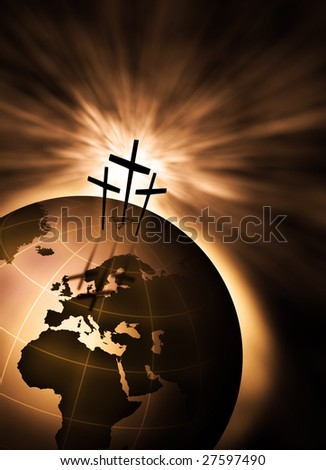 The creation is saved by the Lord Jesus Christ - stock photo