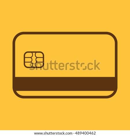 Credit Card Icon Bank Card Symbol Stock Illustration 489400462