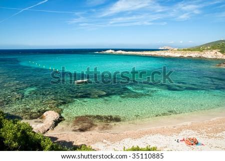 the creek of Davia in Corsica - stock photo