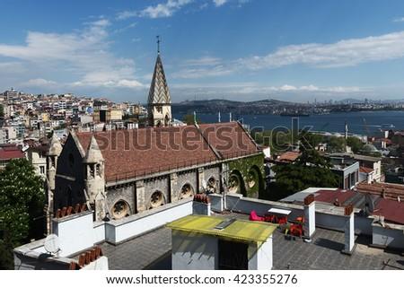 The Crimea Memorial Church, also known as Christ Church, is a Church of England church in the Beyoglu - Taksim district of Istanbul, Turkey - stock photo