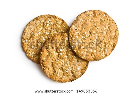 the crispbread on white background - stock photo