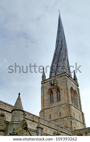 The Crooked Steeple, The St Mary all Saints Church, Chesterfield, Derbyshire