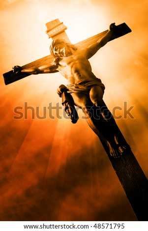 The Crucifixion - The Jesus on the cross - stock photo