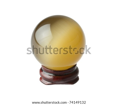 The crystal magic ball waiting for you to ask something - stock photo