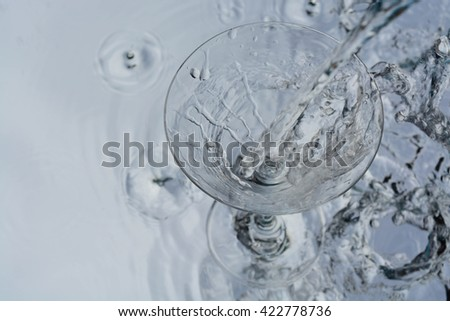 the cup and water  - stock photo