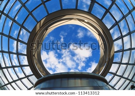 The Cupola on top of the Reich-stag building in Berlin - stock photo