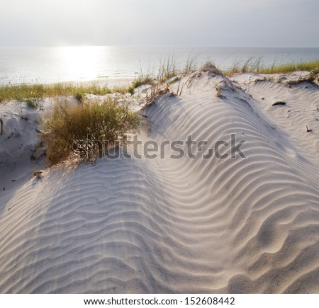 The Curonian Spit in Lithuania .Unesco heritage - stock photo