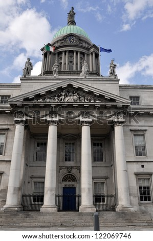 The Customs House in Dublin, Ireland - stock photo