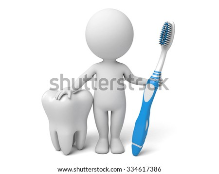 The 3d guy and a dental model - stock photo