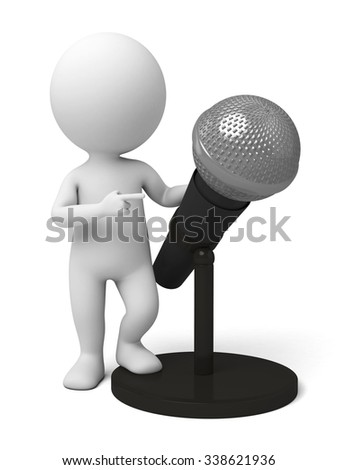 The 3D guy and a microphone