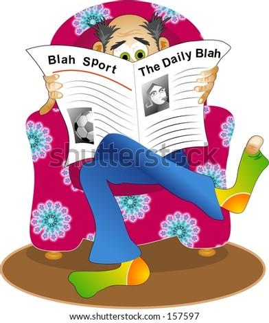 the daily blah - stock photo