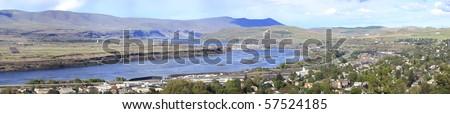 The Dalles & Hwy-I84East Oregon. - stock photo