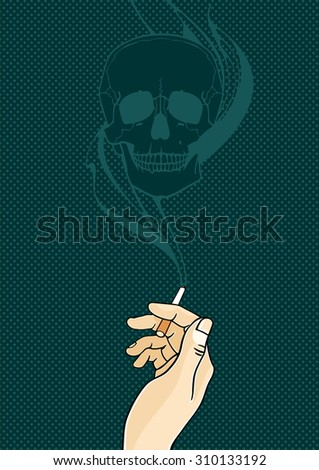 The danger of a cigarette (raster version) - stock photo
