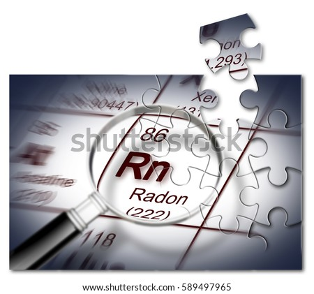 Danger radon gas concept image periodic stock illustration 589497965 the danger of radon gas concept image with periodic table of the elements in jigsaw urtaz Images