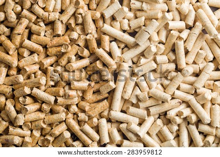 the dark and light wooden pellets - stock photo