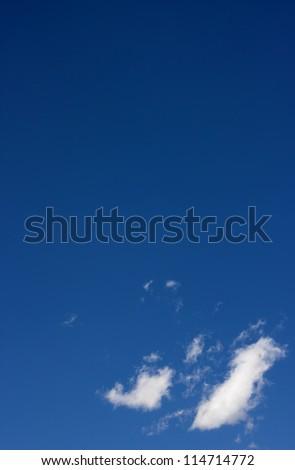 The dark blue sky. - stock photo