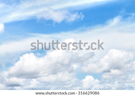 the dark clouds in sky - stock photo