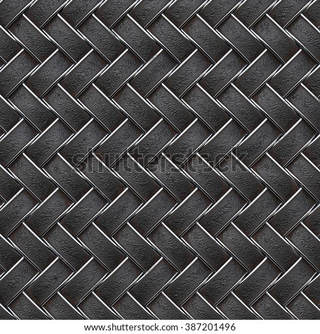 the dark leather texture of rattan with natural patterns - stock photo