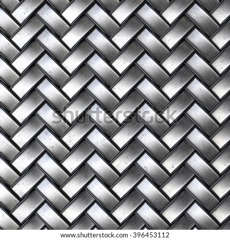 the dark steel texture of rattan with natural patterns - stock photo