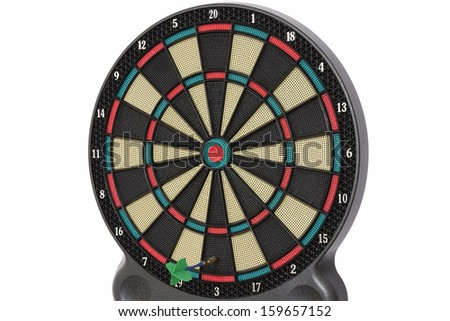 The darts game, number 3 - stock photo