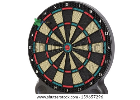 The darts game, number 12 - stock photo