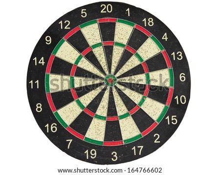 The darts on white background. isolate - stock photo