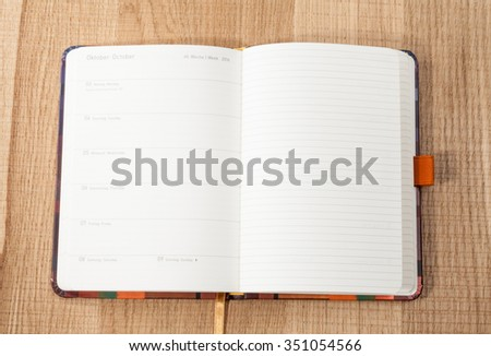 the day of German reunification the German diary 2016 - stock photo
