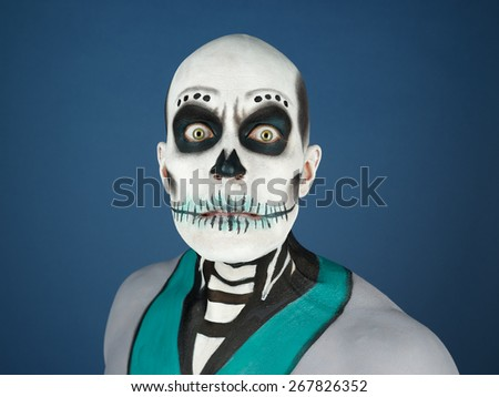 The Day of the Dead theme, painted male