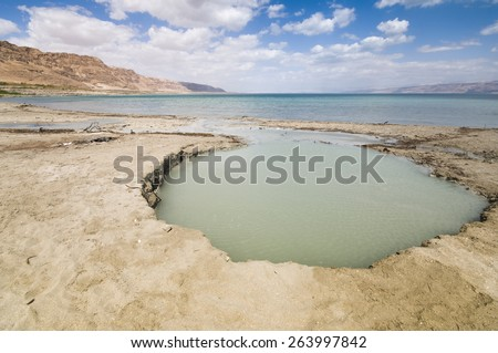 The Dead Sea situated in eastern Israel is a unique location. At 400 meters (1,320 feet) below sea level it is the lowest place on earth. The Dead Sea is located in the Judean Desert area.