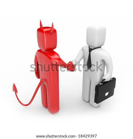 The deal with a devil - stock photo