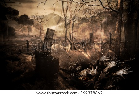 The death of forest fires - stock photo
