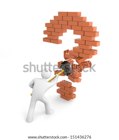 The decision of question - stock photo