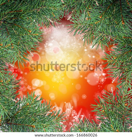 The decorated Christmas tree on white background - stock photo