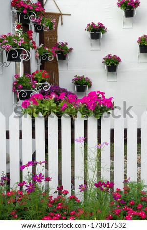 The decorated garden in the park. - stock photo