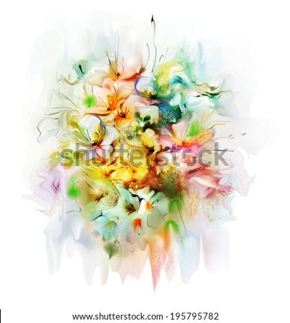 The decorative garden summer flowers  - stock photo