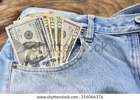 The denomination hundred dollars Money available for tourism  - stock photo