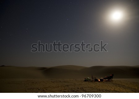 The desert camp - stock photo