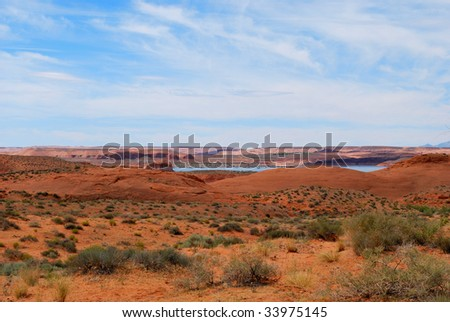 The desert near Lake Powell in Utah.