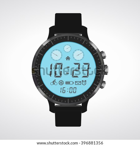 The design of modern and fashionable.  Set clock with the timer. A set of movements. Conceptual image of the clock. Time intervals. The length of time to perform business tasks. time clock - stock photo