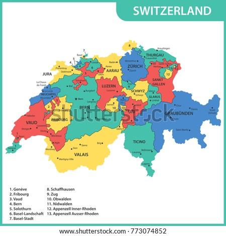 Map Of Nidwalden Stock Images RoyaltyFree Images Vectors