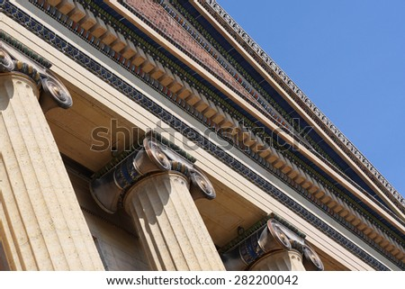 The details in the architecture of the Philadelphia Museum of Art are spectacular.