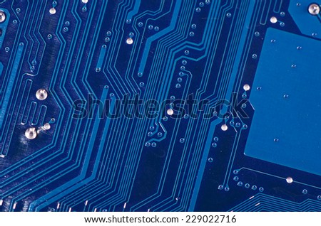 The details motherboard as a background. Macro. - stock photo